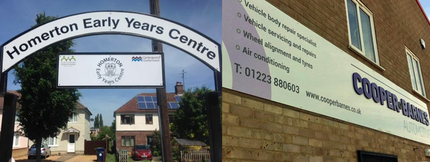 External Signs | Sign Makers Cambridge