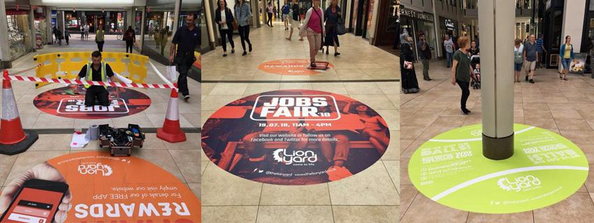 Floor Graphics | Vinyl Floor Stickers | Shopping Centre Signage